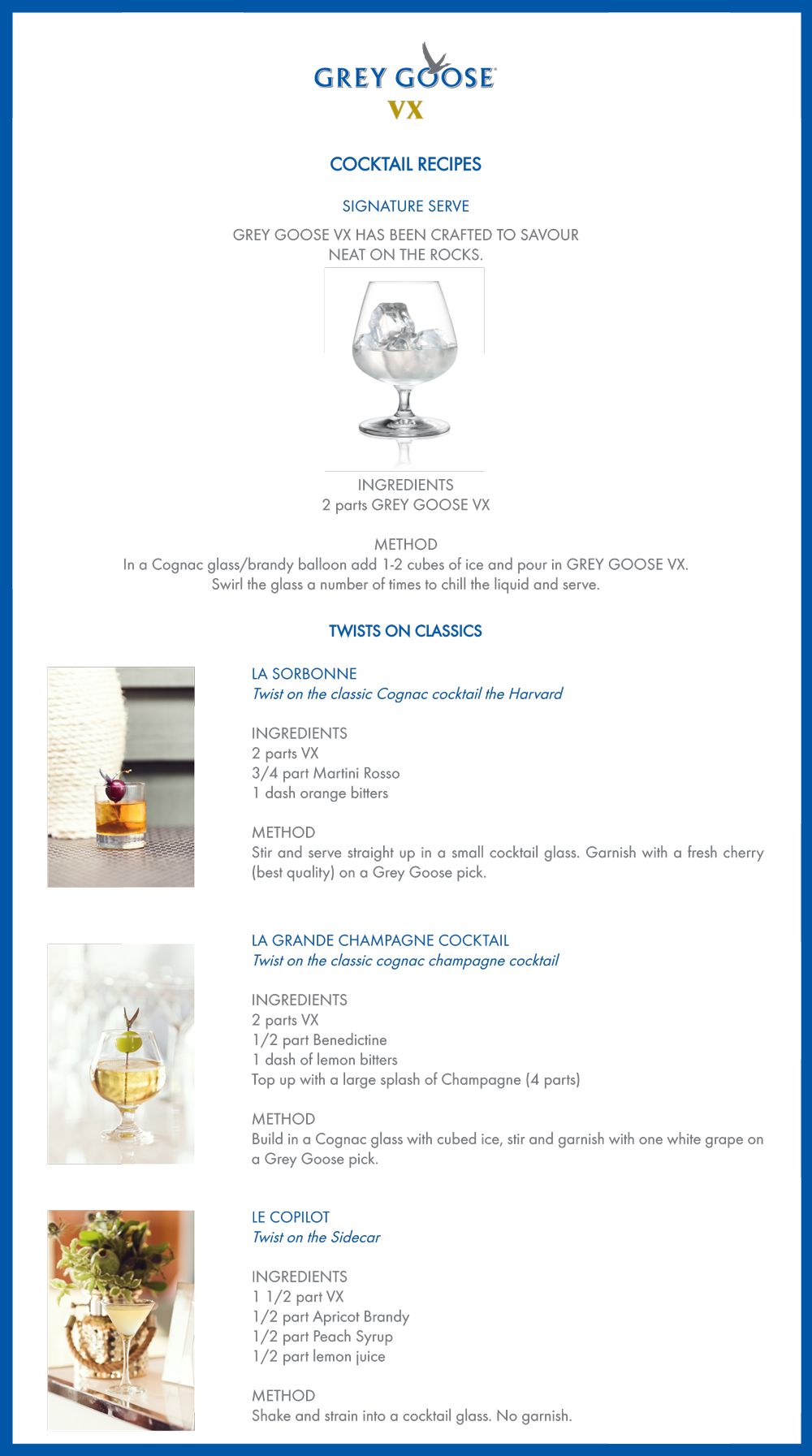 Grey Goose Cocktail Recipes Inspired by Nick