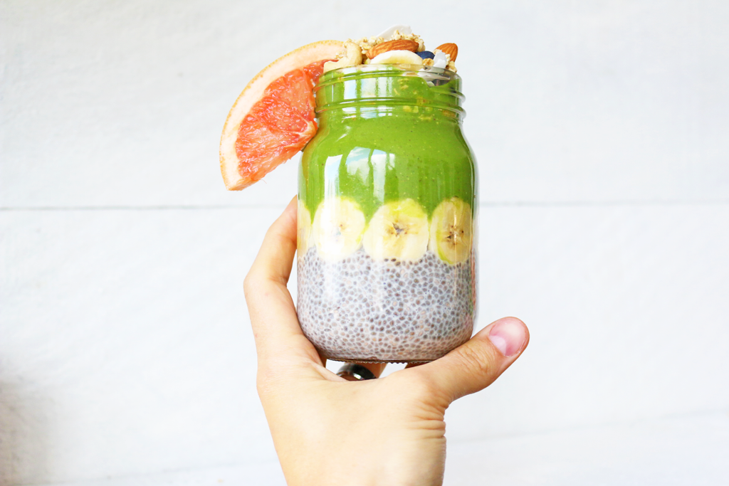 how to make the perfect chia pudding smoothie stack
