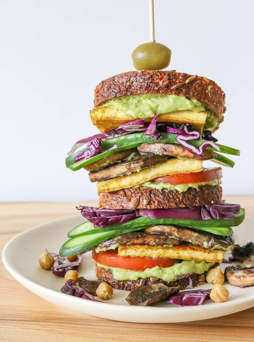 stacked vegan sandwich recipe inspired by nick